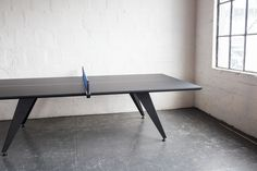 Ping Pong/Table Tennis Conference Table Dimensions (Shown) : H Ping Pong Table Tennis, Best Mods, Conference Table, Workplace, Corner Desk, Hardwood, Contemporary, The Originals, Creative
