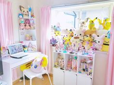 Discover recipes, home ideas, style inspiration and other ideas to try. My Room, Girl Room, Girls Bedroom, Bedroom Decor, Cute Room Ideas, Cute Room Decor, Awesome Bedrooms, Cool Rooms, Pokemon Room