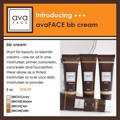 Ava BB face with SPF!