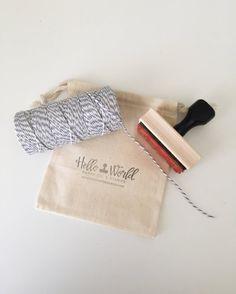 Muselina bolsas bolsa del lazo del algodón por HelloWorldStamps