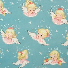 Gift Wrap Wrapping Paper Christmas Paper Baby Angels Unused. Etsy.