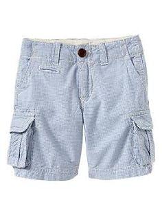 School shorts.. Blue checkered cargo shorts | Gap