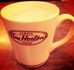 My second favorite coffee spot-Tim Hortons #Canada