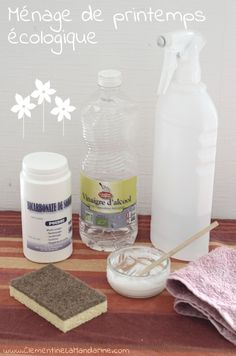 Ménage de printemps écologique et économique Diy Cleaning Products, Cleaning Hacks, Grand Menage, Tips & Tricks, Homemade Facials, Practical Gifts, Green Cleaning, Unusual Gifts, Natural Living