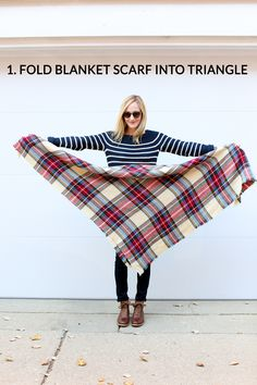 Trouble tying the ever-popular blanket scarf from Zara? (Or any blanket scarf for that matter?) Learn how to tie a blanket scarf is this easy, how-to guide.