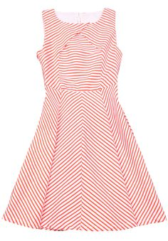 red and white chevron striped cotton dress - love all the stripey goodness