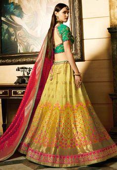 Buy Mustuard green and red Indian wedding Banarasi silk Lehenga in UK, USA and Canada Wedding Lehenga Online, Indian Wedding Lehenga, Indian Wedding Wear, Bridal Lehenga Choli, Silk Lehenga, Lehenga Blouse, Anarkali, Mehendi Outfits, Bridal Outfits