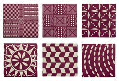 One Kings Lane - Gifts Under $100 - S/6 Assorted Afrique Napkins, Purple