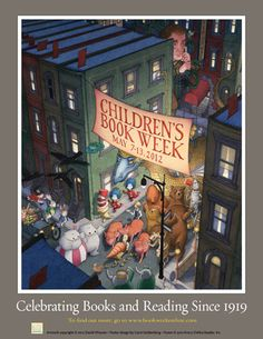 Official Children's Book Week poster, 2012, David Wiesner, (1956-Present)
