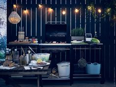 Check out this Dining Area Ideas for your projects The post Dining Area Ideas - 316518748750871466 appeared first on My Building Plans South Africa. Ikea Outdoor, Outdoor Dining, Simple Outdoor Kitchen, Small Outdoor Kitchens, Small Terrace, Small Patio, Small Space Design, Small Spaces, Balcon Condo