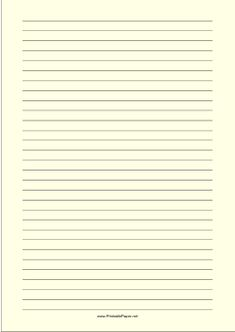 Wide Ruled Paper With Black Lines On A Light Yellow Background. This Type  Of Paper  Lined Paper To Type On
