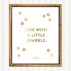 A glittery addition to her gallery wall. Sparkle Fine Art Print, $20  -Cosmopolitan.com