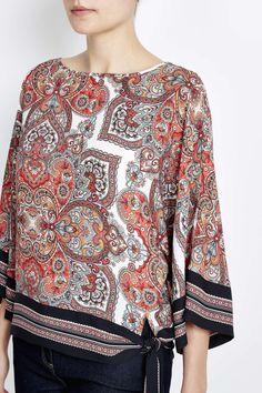 Photo 4 of Petite Paisley Print Kimono Top
