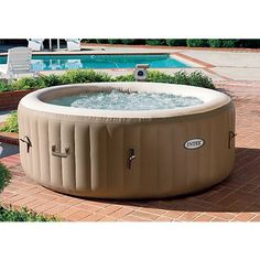Coleman lay z spa inflatable hot tub outdoor bargains pinterest home we and fit for Above ground swimming pools nz