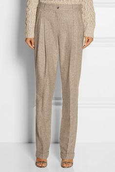 Michael Kors | Mélange wool and cashmere-blend tapered pants | NET-A-PORTER.COM