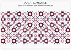 Semne Cusute: Romanian traditional motifs - OLTENIA Beading Patterns, Embroidery Patterns, Stitch Patterns, Knitting Patterns, Cross Stitch Designs, Hama Beads, Cross Stitching, Blackwork, Pixel Art