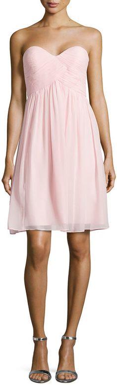 Donna Morgan Strapless Ruched-Bodice Cocktail Dress, Blush
