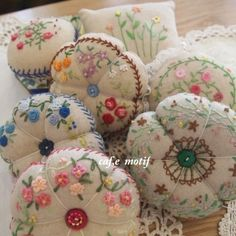 Awesome embroidery pin cushions