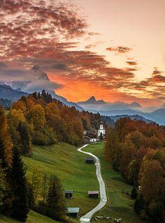 Bavarian Sunset Achim Thomae Flickr