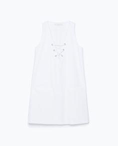 Dresses to Coachella | ELLE | Zara Tie-Neck Dress, $60; zara.com   - ELLE.com