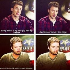 Sebastian Stan and Chris Evans interview