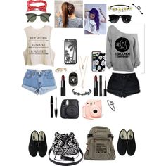 Untitled #149 by brianna4481 on Polyvore featuring polyvore, fashion, style, Levi's, Vans, Charlotte Russe, Ruifier, With Love From CA, Ray-Ban, Sonix, Impulse, NARS Cosmetics, Mary Kay and Nasty Gal