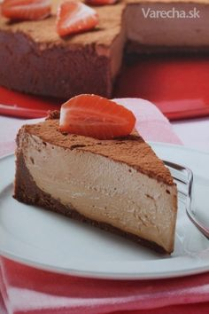 Čokoládový Cheesecake/Chocolate Cheesecake - recipe in Slovak German Chocolate Cheesecake, Chocolate Cakes, The Cheesecake Factory, Sweet Treats, Food And Drink, Sweets, Mousse, Eat Smarter, German Recipes