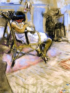 'Young Girl in the Studio at Boulevard Malesherbes' -(1909) - Édouard Vuillard.
