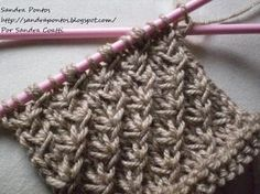 Risultati immagini per ponto de trico chains paternn Tunisian Crochet Patterns, Knitting Paterns, Loom Knitting, Knit Patterns, Free Knitting, Knitting Projects, Crochet Stitches, Crochet Amigurumi, Knit Crochet