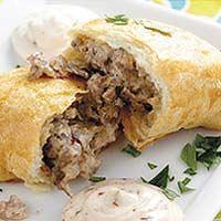 Breakfast Empanadas with Chipotle Cream