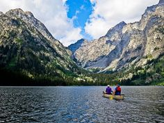 Canoeing on Leigh Lake in Jackson, Wyoming - alexdphoto.com