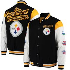5170306073e Pittsburgh Steelers G-III Sports by Carl Banks Elite Commemorative Jacket -  Black White