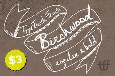 Birchwood by TypeFaith Fonts on Creative Market