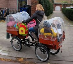 Easily Hopping Onto The Pavement by Pays-Bas Cycle Chic, via Flickr