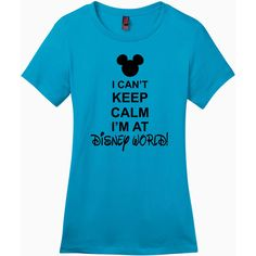 I Can't Keep Calm I'm at Disney World Ladies Perfect Weight Crew Tee ($24) ❤ liked on Polyvore featuring tops, t-shirts, red, women's clothing, red tee, crewneck t shirt, crew-neck tee, crew top and red top
