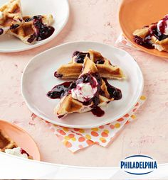 Hosting a brunch? Blueberry-lemon cheesecake waffles featuring Philly Light Cream Cheese will make the meal feel like a special occasion! This 35-minute recipe will get your brunch out on the table in record time. The secret time-saver? No waffle batter required!