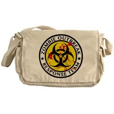 Zombie Outbreak Response Team Messenger Bag - http://geekarmory.com/zombie-outbreak-response-team-messenger-bag-2/