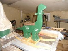 Children's Rocking Dinosaur : 5 Steps (with Pictures) - Instructables Childrens Rocking Horse, Best Router, Strongest Glue, Brass Wood, Router Table, Oak Stain, Wood Screws, Red Oak, Hardwood