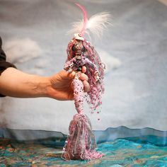 Mermaid Art Doll Handmade Art Display Yarn Female by AltarGodesses