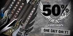 50% off Dean Guitars Sale This Friday!! Check out our selection of Guitars. Sale is online and in store. Discounted prices will show online day of event #sale #music #guitars #deanguitars