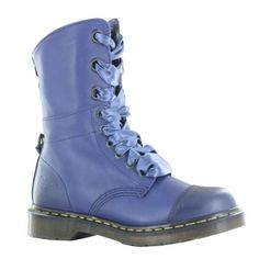 Dr.Martens Aimilie Navy Leather Womens Boots | Allshoesing