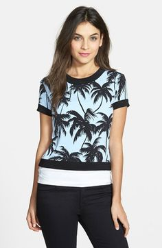 Vince+Camuto+Short+Sleeve+Crop+Top+available+at+#Nordstrom