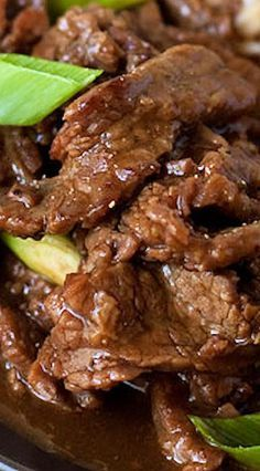 A copycat version of PF Changs popular beef dish. A Mongolian Beef pressure cooker recipe made with Flank steak thinly sliced cooked in a lightly sweet, savory