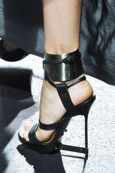 Lanvin Black Architecture Sandal Constuction 2011 #Shoes #Heels