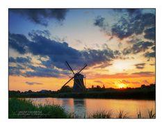 HDR+Sunset+%40+Windmill+%27Prinsenmolen%27%2C+Rotterdam