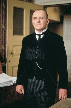 Anthony Hopkins as Mr Stevens in The Remains of the Day