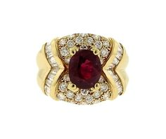 18K Gold Diamond Ruby Ring Featured in our upcoming auction on January 12, 2017!