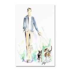 Jennifer Lilya 'Dog Walking' Art