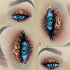 Fall look by @_tiarni_  Loving the copper tones from #makeupgeekcosmetics & Lashes from #houseoflashes  #makeupaddictionbrushes #makeupaddictioncosmetics