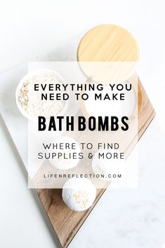 Everything you need to make bath bombs plus tips for a fail proof success